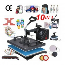 10 in 1 Combo Heat Press Machine Sublimation Heat Transfer Machine