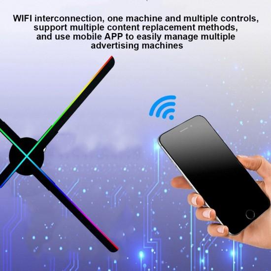 638 LED 3D WiFi  Fan Hologram Projector 56CM WiFi Fan Holographic Advertising Machine
