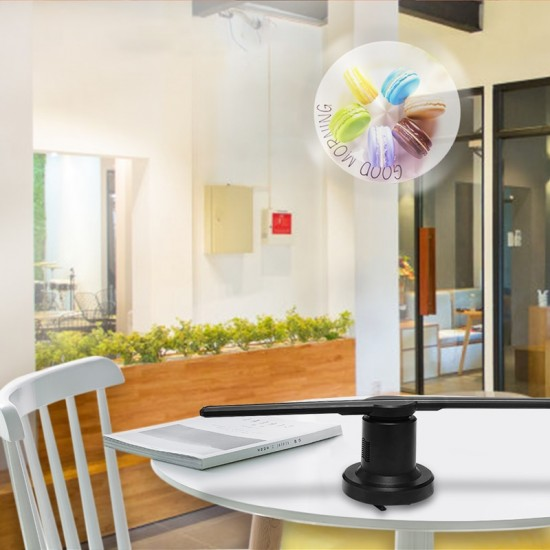 3D Hologram Fan Projector 42cm- 224 LED Beades And 450PX 3D Advertising LED Fan Holographic 3D Image and Video Projector