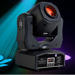 60W Mini Led Dmx Gobo Moving Head Spot Light For Club Dj Stage Lighting Party Disco Wedding Event