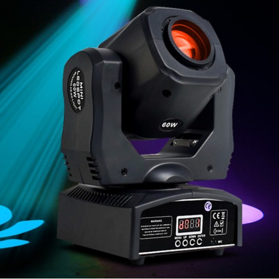60W Mini Led Dmx Gobo Moving Head Spot Light For Club Dj Stage Lighting Party Disco Wedding Event