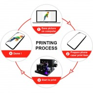A4 Size LED UV Flatbed Printer Multi-Function Phone Case Printer